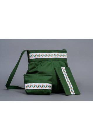Vyšívaná, dámska taška - trojdielna - TS015