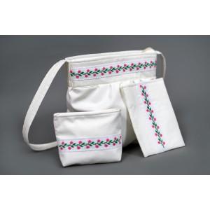 Hímzett, női táska szett - TS014