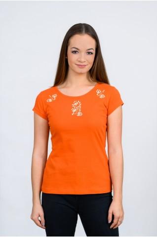 Női póló, ókalocsai hímzéssel T010