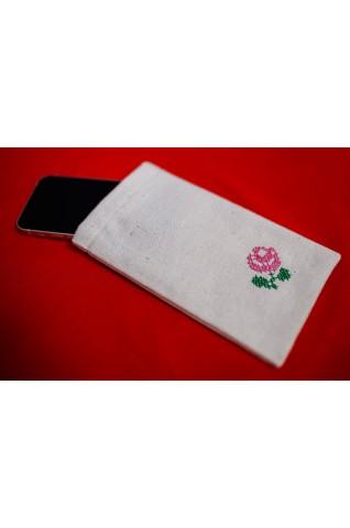 Hímzett mobiltelefon tok - D010