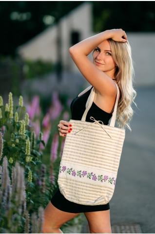 Kézzel hímzett, női vászon táska -TS001